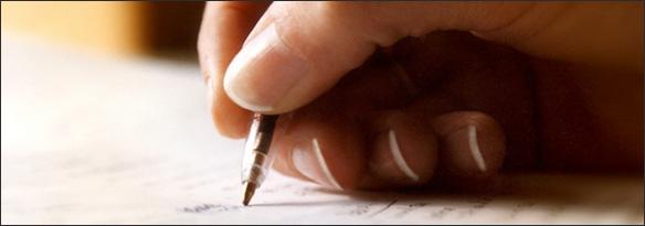 Skriver brev